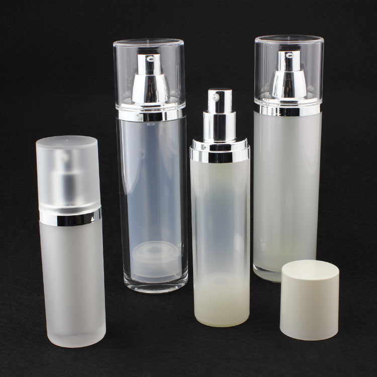 Round Acrylic Airless Pump Bottle Cospack