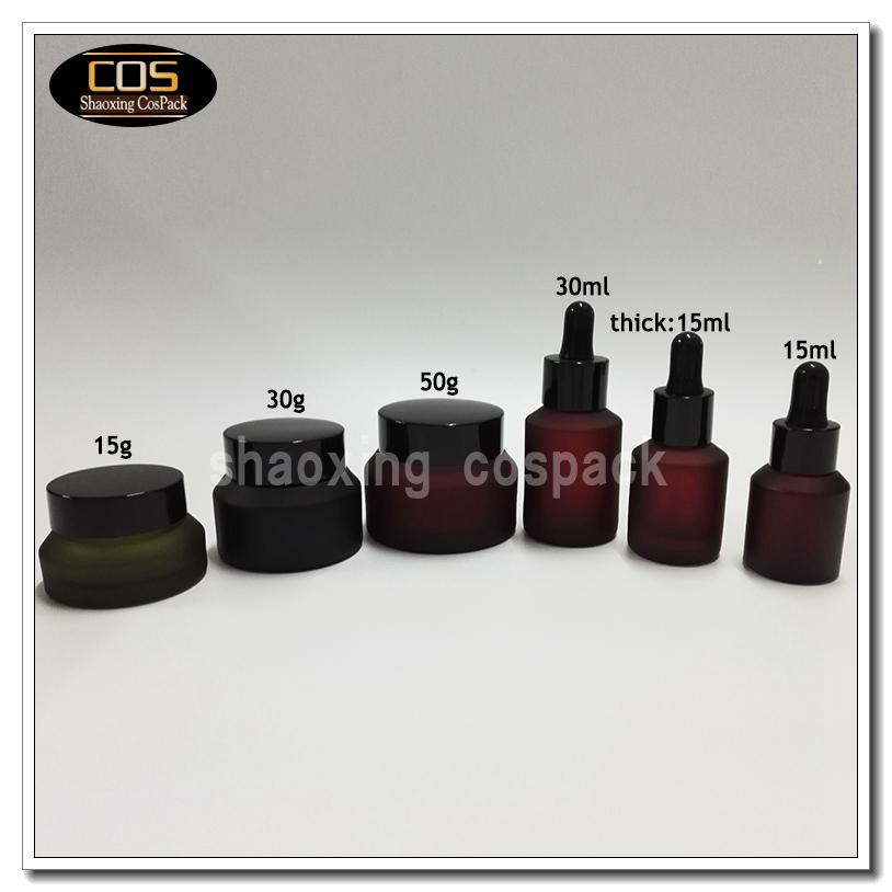 Db201 Rose Color Glass Dropper Bottle Cospack