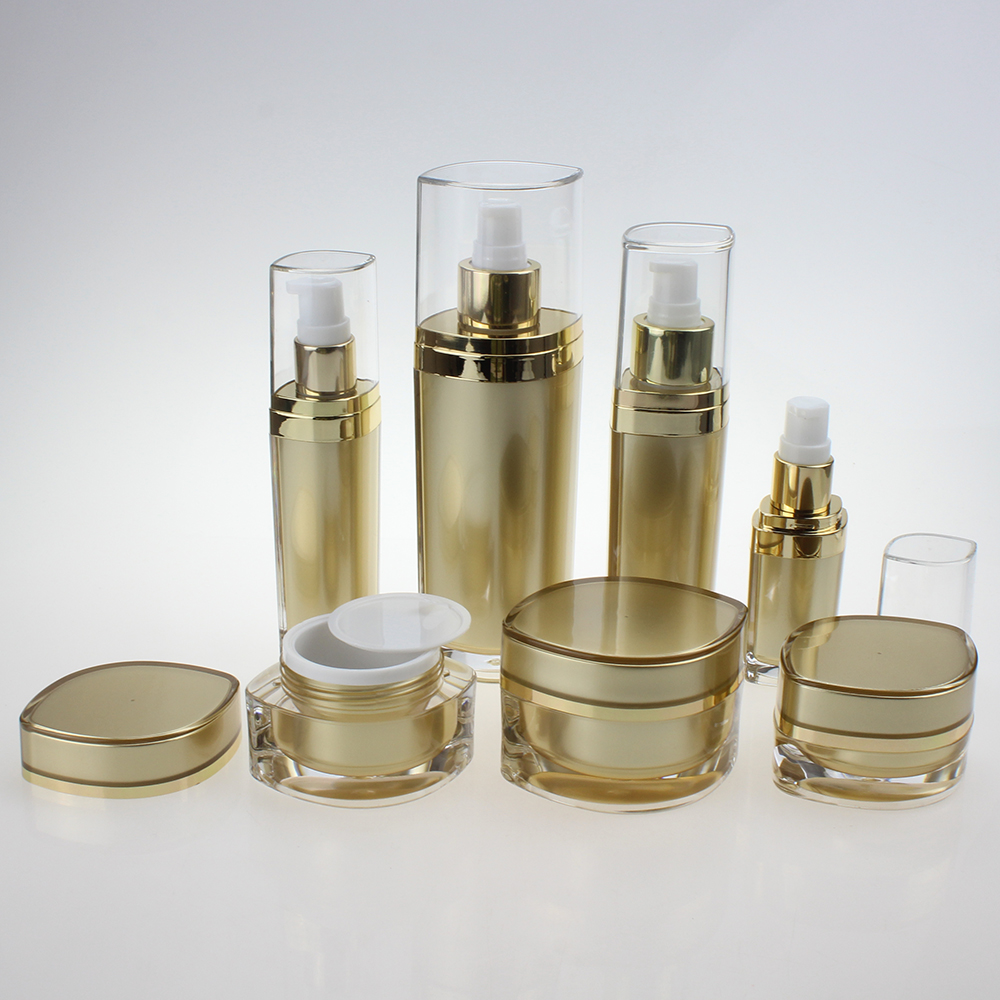 China Suppliers Full Size Gold Skincare Face Cosmetic Package